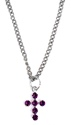 Wings of Faith Swarovski Cross Neck-Purple