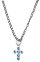 Wings of Faith Swarovski Cross Neck-Blue