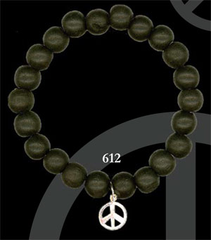White Gold Dipped Peace - Black Wood(612)