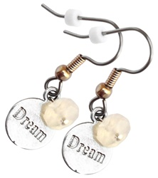 Messages Follow Your Dreams Earrings