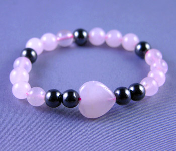 Happiness - Magnetic Hematite and Rose Quartz (531)