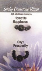 Gemstone Rings- Hematite/Onyx