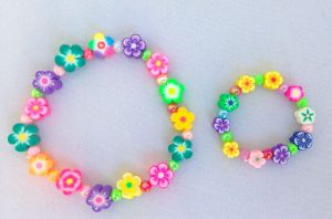 My Doll n' Me Bracelet Set-Fimo Flower