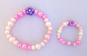 My Doll n' Me Bracelet Set-Pearlescent Flower