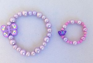 My Doll n' Me Bracelet Set-Pearlescent Butterfly