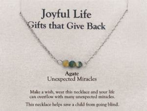Joyful Life Necklace-Agate
