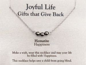 Joyful Life Necklace- Hematite