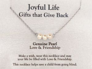 Joyful Life Necklace- Pearl