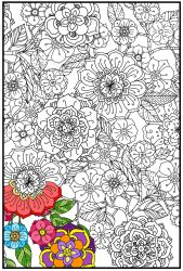 Joy of Coloring  (24x36)Flower Garden