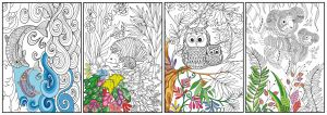 Joy of Coloring ( 11x17) 4 pack  Animals- Mother & Child