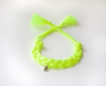 Braided Neon Yellow with Heart