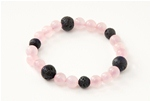Luck Lava Bracelet Rose Quartz