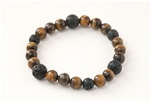 Lucky Lava Bracelet- Tiger's Eye