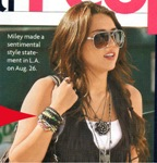 Wooden Peace Bracelet  worn by Miley Cyrus