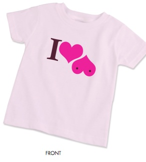 Pink United I Heart Boobies T-Shirt