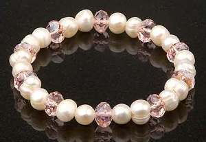 White with Pink Crystals