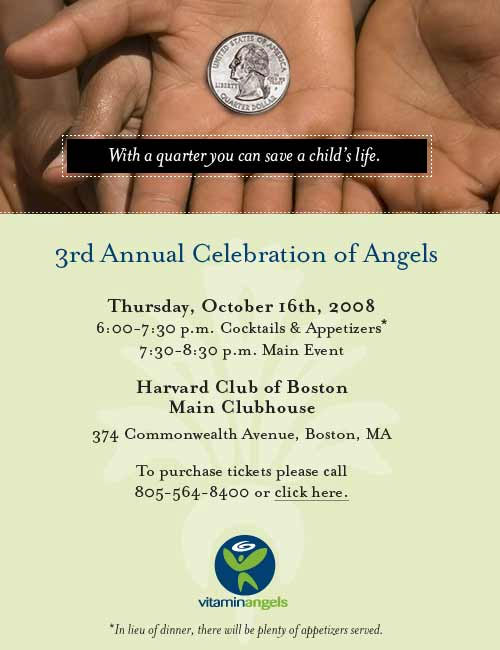 3rd annual celebration of angels invitation - click here